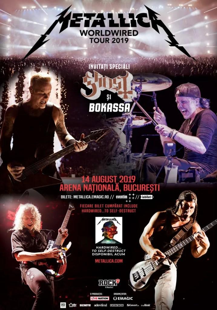 Concertul Metallica este sold out! Biletele s-au vândut în timp record, în 24 de ore