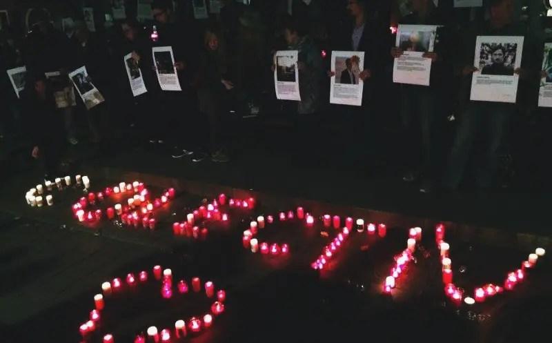 Victimele incendiului din Colectiv au fost comemorate la Cluj