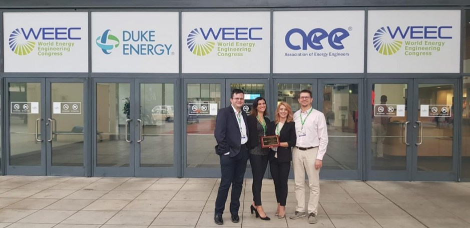 FOTO | Universitatea Tehnică din Cluj-Napoca a fost premiată în cadrul World Energy Engineering Conference (WEEC)