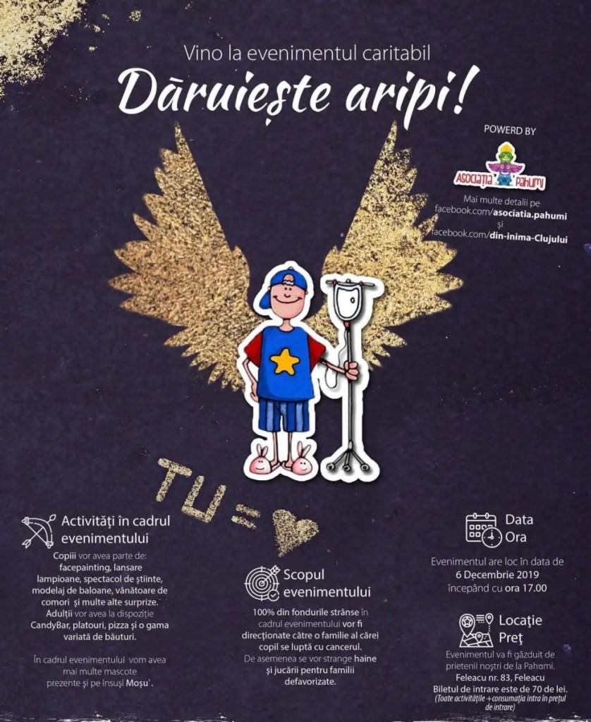 Dăruiește Aripi - eveniment caritabil la Cluj pentru Ionuţ, un băiat de 9 ani care suferă de cancer