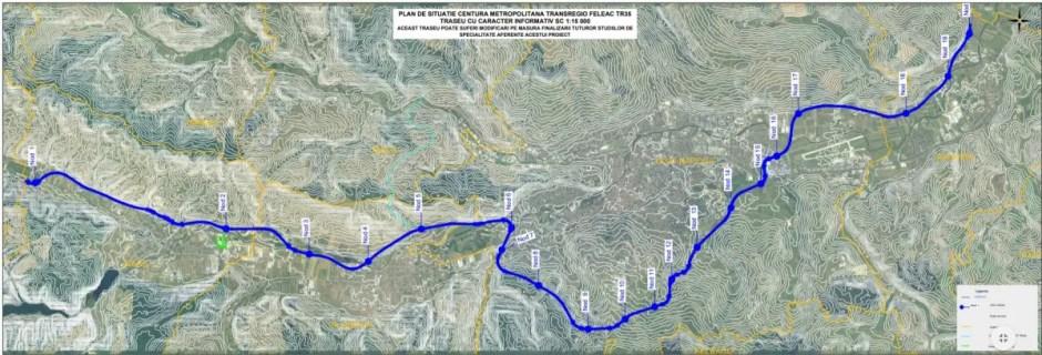 A fost aleasă varianta finală a centurii metropolitane a Clujului