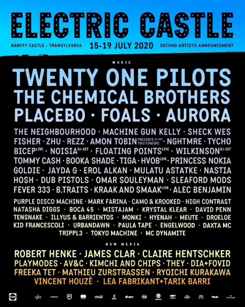 Artişti noi la Electric Castle: The Chemical Brothers, Placebo, Machine Gun Kelly
