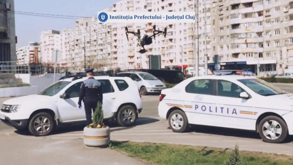 Drone la Cluj-Napoca folosite pentru verificarea persoanelor care nu respectă izolarea/carantinarea