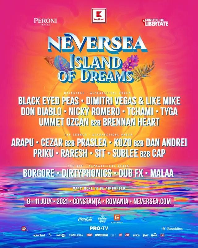 Primii artişti confirmaţi la festivalul NEVERSEA 2021