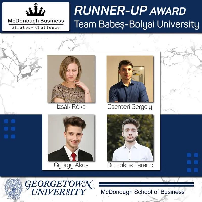 Studenții UBB - premiați la competiția de studii de caz organizată de Georgetown University din Washington DC