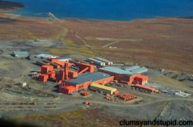 Overhead the mine site