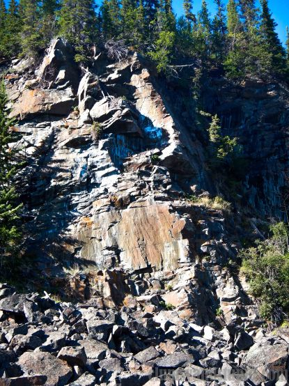 Cliff on the Great Slave Lake