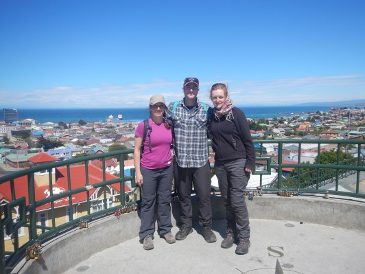 Overlooking Punta Arenas and the Magellan Straight