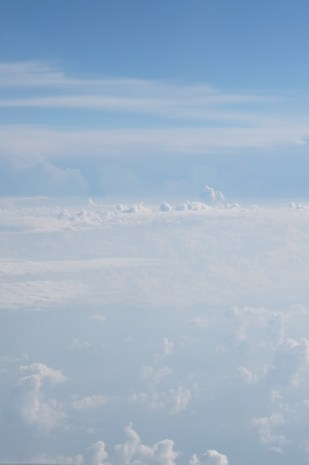 somewhere over eastern Europe... I think. Soo fluffy, soo soft! Don't you just want to jump into it!?