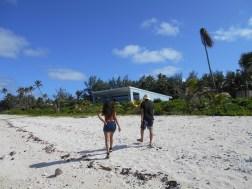 No beach on Rarotonga is private!