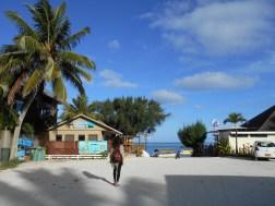 Muri Beach, the most popular one on the island