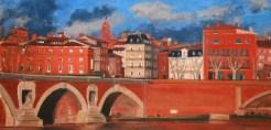 Annette Cunac: Toulouse - Pont Neuf et les quais