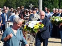 Gedenkfeier zum 75. Jahrestag des Massakers in Maillé am 25. August 1944