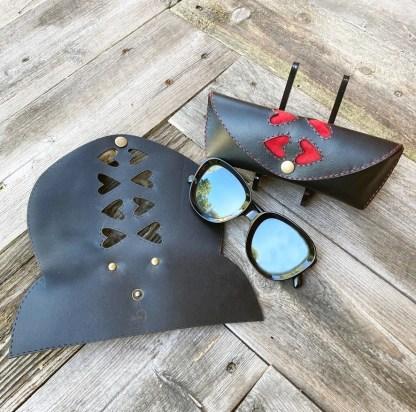 Brillebo glasögonfodral i läder Initialer