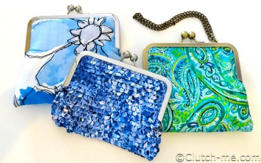 blue green floral clutches sequins