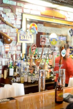 A lively atmosphere is always on tap at The Irish Pub. Beer memorabilia, Irish souvenirs and a traditional Irish musician are present to set the mood