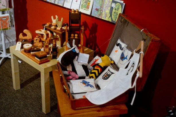 Children's toys have their own dedicated corner at Harmony Ridge Gallery. All items in the store are handcrafted with extreme attention to detail.