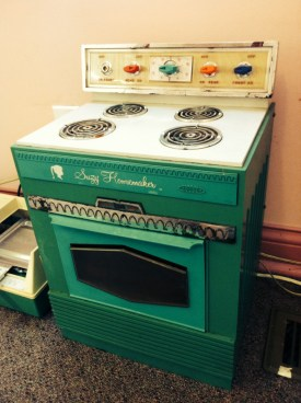 A vintage Suzy Homemaker Oven. It could actually bake things!