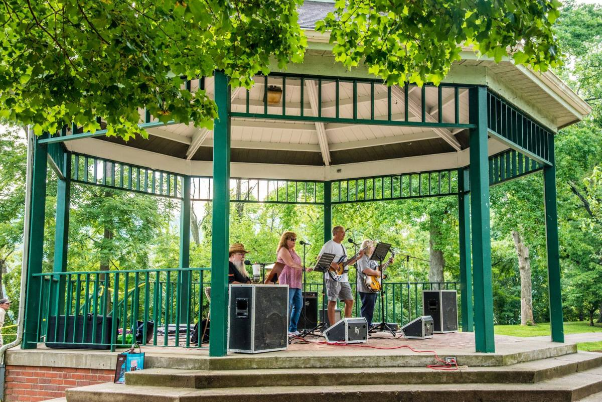 Music in the Park in Marietta, Ohio