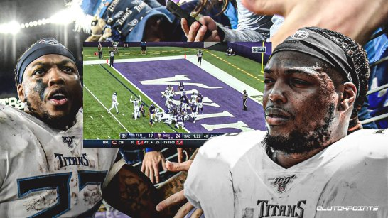 Titans video: Derrick Henry scores 2 TDs late in 3rd quarter, giving  Tennessee lead over Vikings