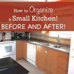 How To Organize Your Kitchen Cabinets And Drawers Tall Table Chairs A Small Before After
