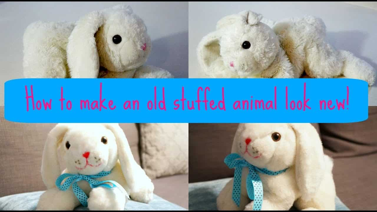 How To Make An Old Stuffed Animal Look New Again