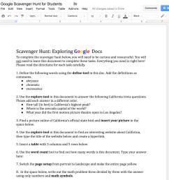 Google Docs Scavenger Hunt – Dr. Catlin Tucker [ 973 x 1024 Pixel ]