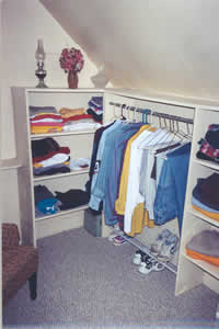 Closet after de-cluttering process