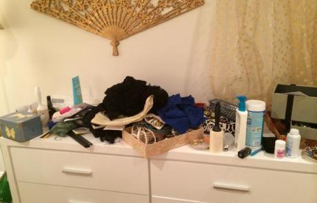 Dresser, ready to be organized