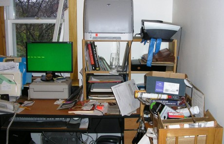 Office, ready to be organized