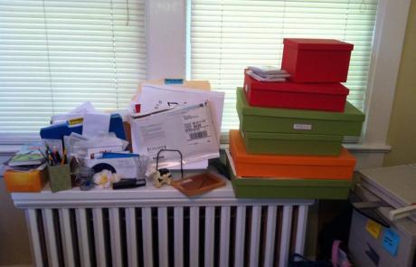 Radiator, ready to be organized