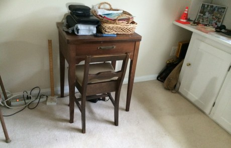 Sewing area, professionally decluttered and organized!