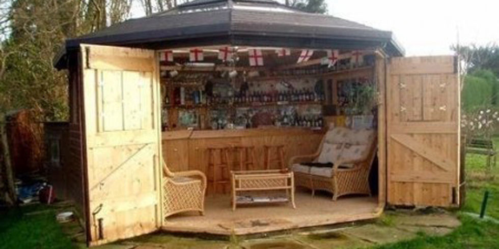Here's Why Tiny Bar Sheds Are The Hottest New Trend