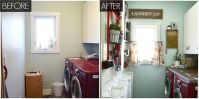 Laundry Room With Pegboard - Organized Laundry Room Makeover