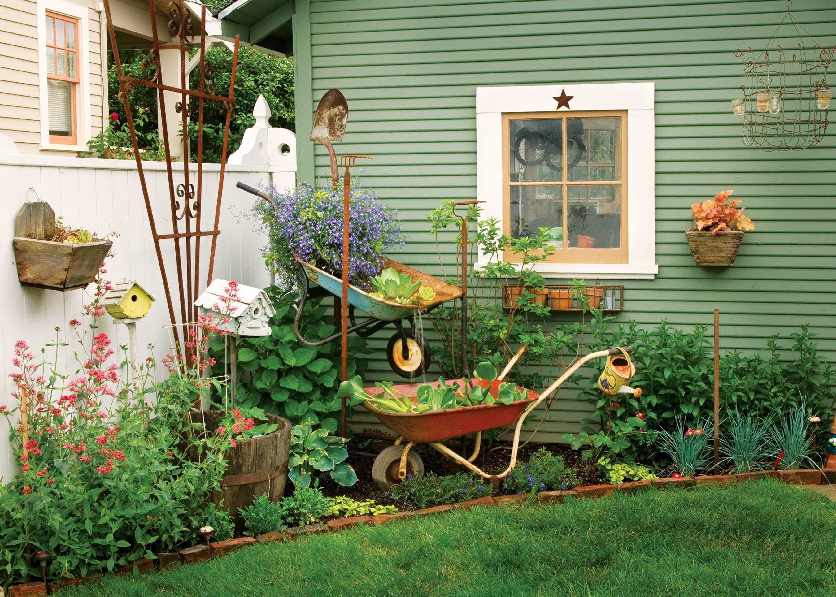 Wheelbarrow Crafts Ways To Repurpose A Wheelbarrow