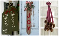 14 DIY Christmas Door Decorations - Holiday Door ...