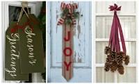 14 DIY Christmas Door Decorations - Holiday Door ...