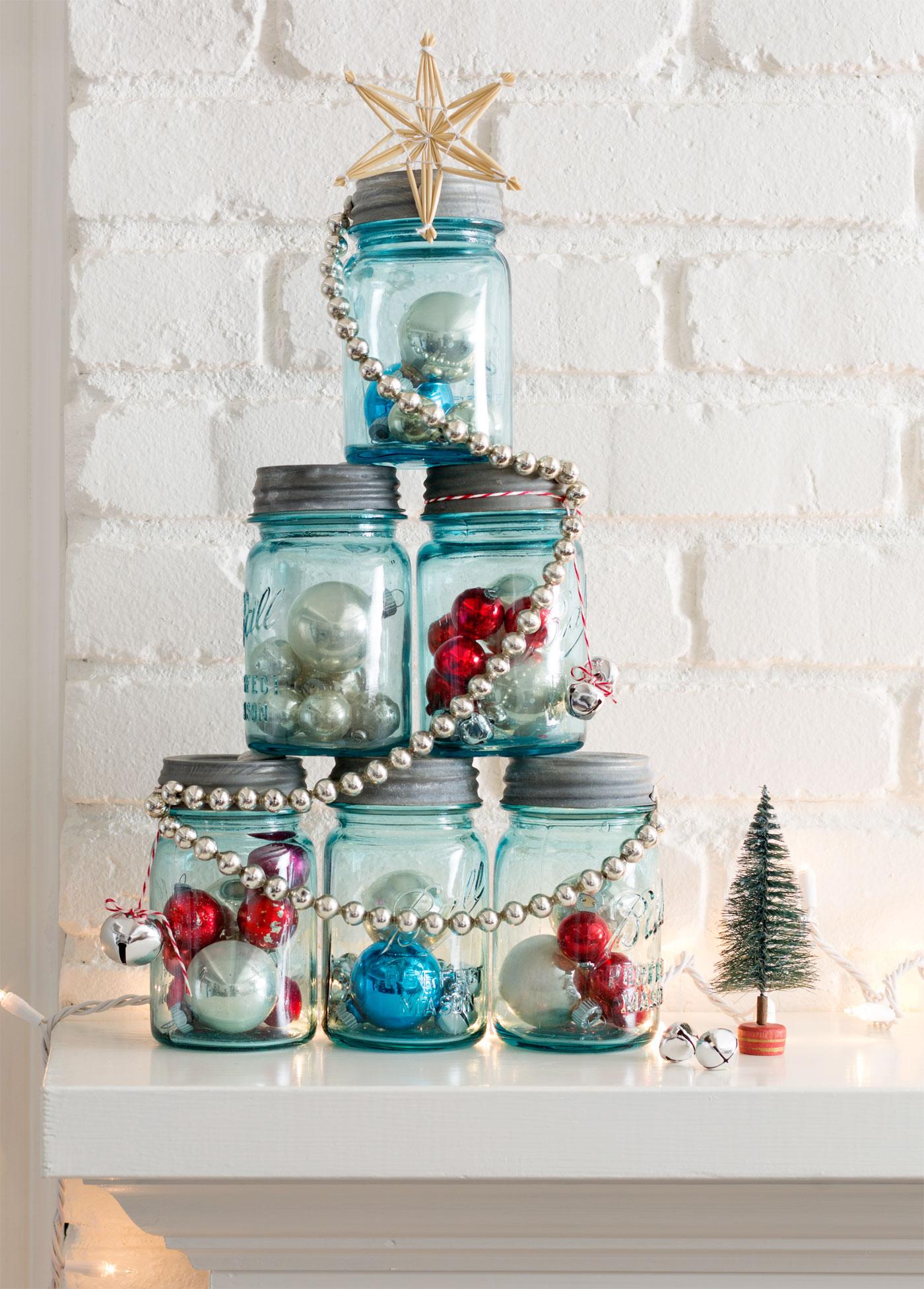 Résultats de recherche d'images pour «mAson jar christmas tree»
