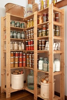 Wood Kitchen Pantry Storage Unit