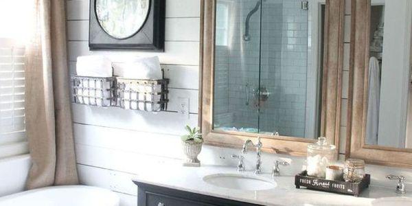 Farmhouse Bathroom Makeover - Rustic Remodel