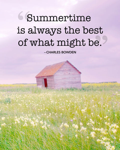 """""""Summertime is always the best of what might be."""""""
