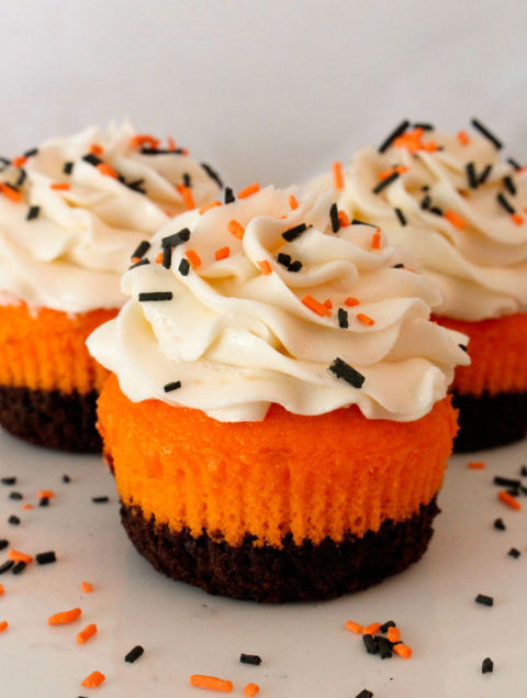 Halloween is the perfect occasion to add some brownie mix to your cupcakes. Get the recipe at Two Sisters Crafting.