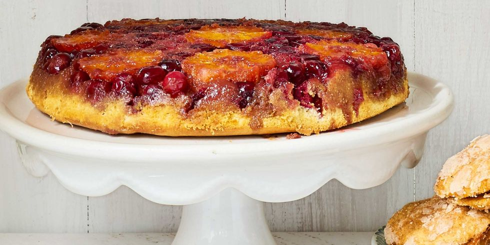 Upside-Down Orange-Cranberry Cake Recipe