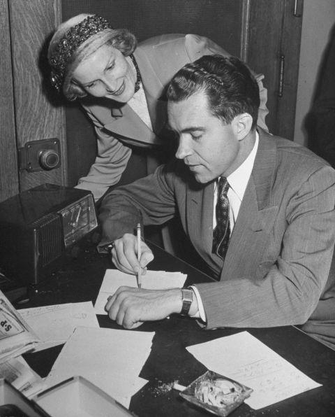 President Richard Nixon and First Lady Pat Nixon