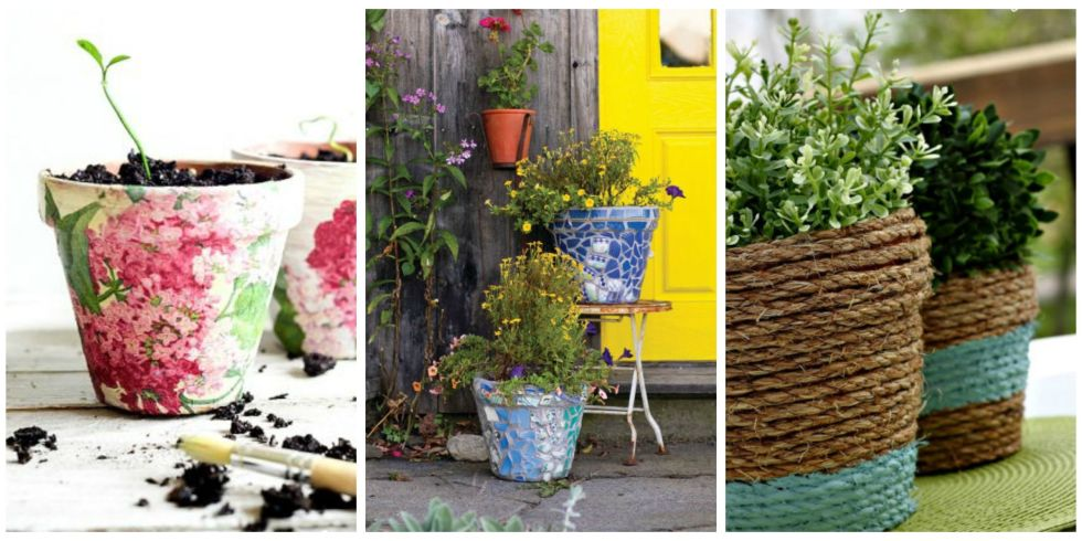 24 Seriously Pretty DIY Flower Pot Ideas How To Decorate Planters