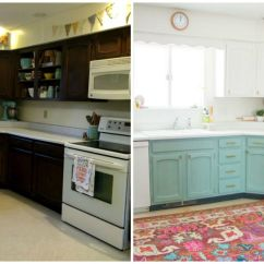 Inexpensive Kitchen Makeovers Bathroom And Remodeling This Bright Cheery Renovation Cost Just 250