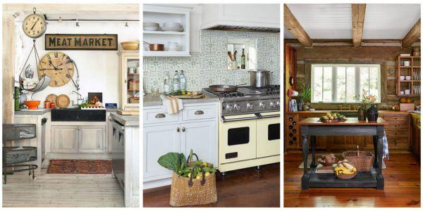 rustic farmhouse country kitchen 18 Farmhouse Style Kitchens - Rustic Decor Ideas for Kitchens