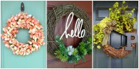 10 DIY Summer Wreath Ideas - Outdoor Front Door Wreaths ...
