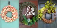10 DIY Summer Wreath Ideas - Outdoor Front Door Wreaths ...