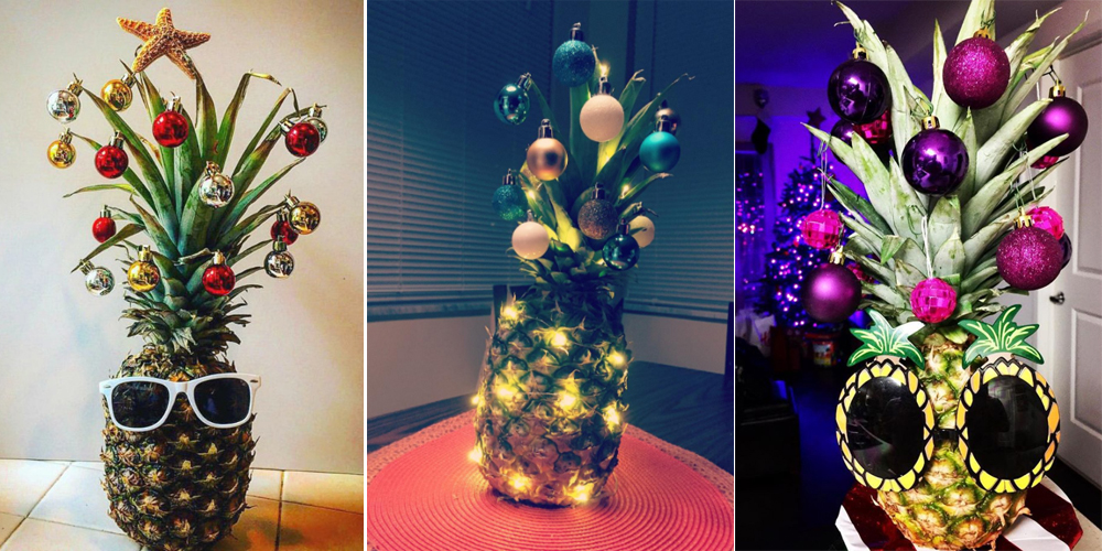 Pineapple Christmas Trees Are Taking Over Pinterest This Year